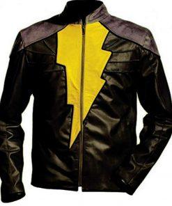 Faux Shazam Black Leather Jacket