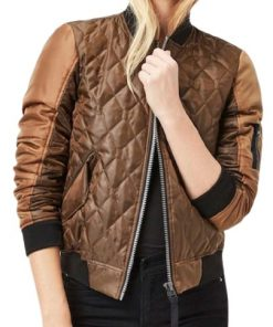Agents of Shield Jemma Simmons Quilted Leather Jacket