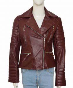 Stylish Stephanie Beatriz Brooklyn Nine - Nine Leather Jacket