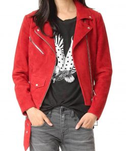uede Once Upon A Time Emma Red Leather Jacket