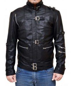 Michael Jackson Appealing Bad Black Leather Jacket