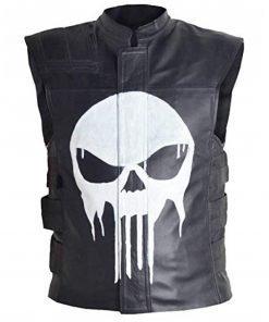 Punisher Frank Castle Quilted Leather Vest