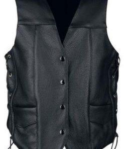 The Walking Dead Daryl Dixon Angel Wings Black Leather Vest