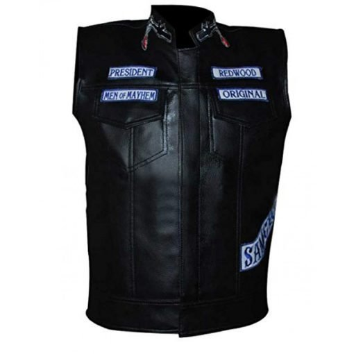 Sons of Anarchy Motorcycle Club Leather Vest