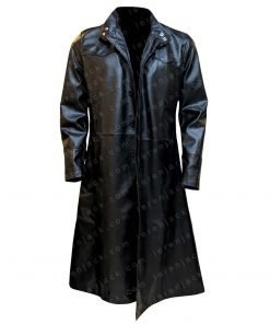 Neo Matrix Keanu Reeves Black Trench Coat