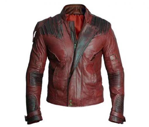 Mens Star Lord Guardians of the Galaxy Vol 2 Leather Jacket