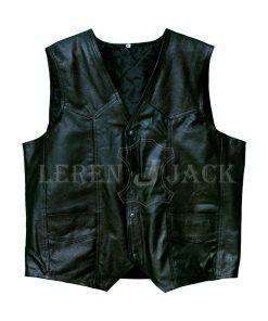 Mens Hells Angels California Leather Vest