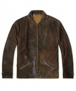 Distressed Brown Jackets Leather Jacket