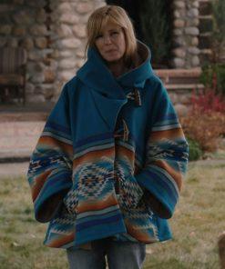 Kelly Reilly Yellowstone Blue Coat