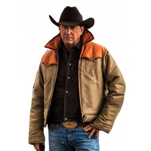 Yellowstone Kevin Costner John Dutton Leather Jacket
