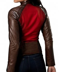 Blade Trinity Abigail Whistler Brown Leather Jacket