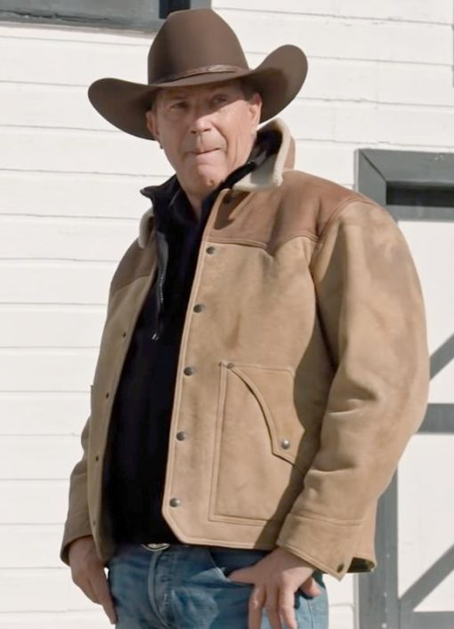 Yellowstone Kevin Costner John Dutton Raw Leather Jacket