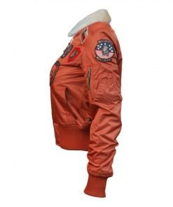 Womens Top Gun B-15 Flight Jacket With Patches
