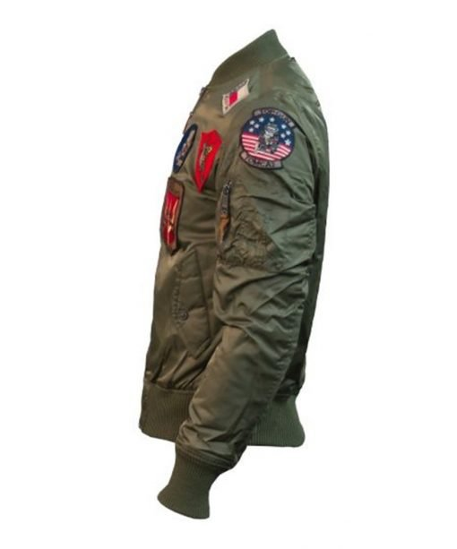 Top Gun Ma 1 Bomber Jacket With Patches