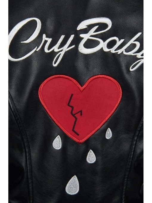 Cry Baby Motorcycle Women Leather Jacket