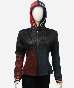 Harley Quinn Daddy's Lil' Monster Leather Jacket
