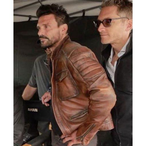 Frank Grillo Boss Level Leather Jacket