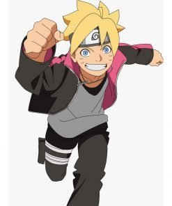 Naruto Boruto Uzumaki Striped Jacket