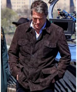 The Undoing Hugh Grant Suede Leather Jacket