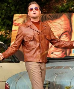 Once Upon A Time Leonardo DiCaprio Brown Leather Jacket