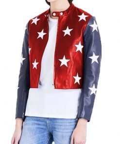 Women Independence Day Cropped Jacket