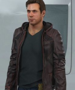 Detroit Become Gavin Reed Brown Jacket