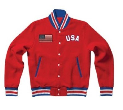 Letterman United States Red Cotton Jacket