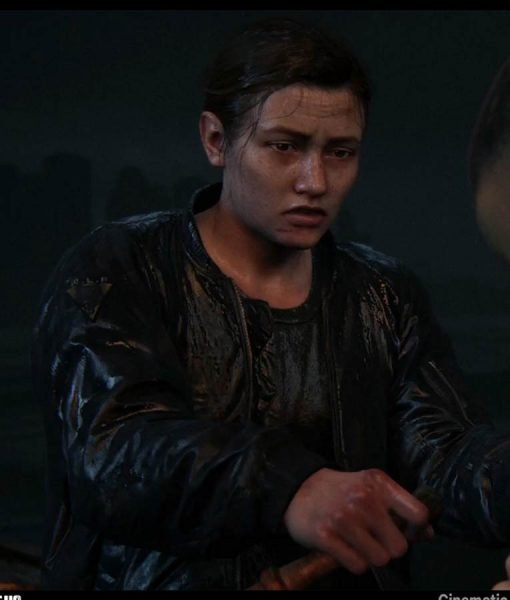 The Last Of Us Part II Abby Bomber Leather Jacket