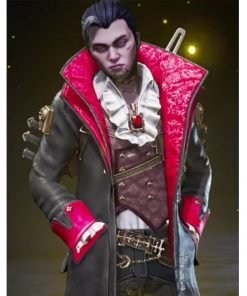Apex Legends Crypto Deadly Byte Long Leather Jacket