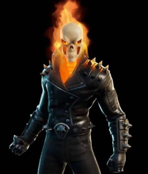 Fortnite Chapter 2 S04 Ghost Rider Cup Black Leather Jacket