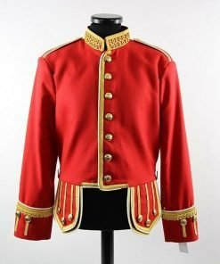 Men's Band Doublet Drum Major Military Red Jacket