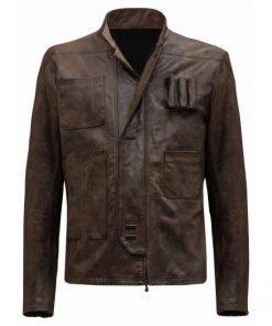 Star Wars TFA Han Solo Brown Leather Jacket