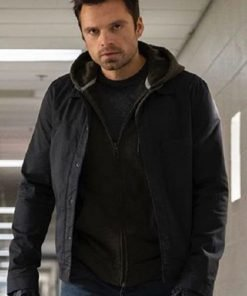 The Falcon and the Winter Soldier Sebastian Stan Black Cotton Jacket