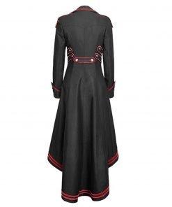 Women's Gothic Medieval Swallowtail Black Coat
