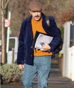 Ted Lasso Jason Sudeikis Blue Velvet Jacket