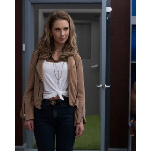 Ted Lasso Keeley Brown Leather Jacket