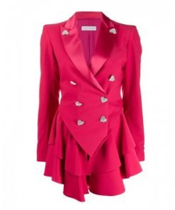 Ted Lasso S2 Keeley's Pink Heart Button Blazer