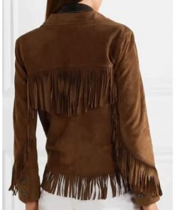 The High Note Maggie Brown Fringe Jacket