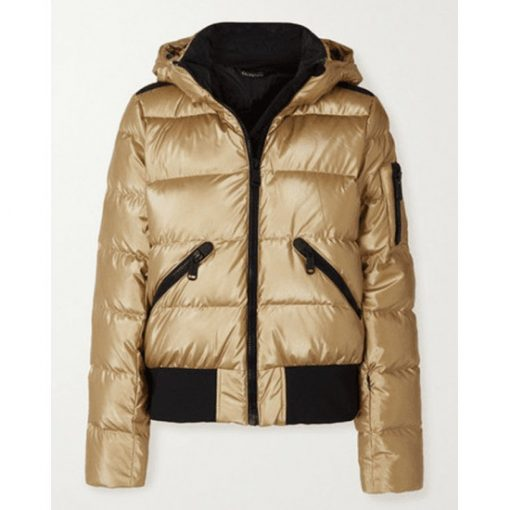 Ted Lasso S2 Keeley Puffer Gold Jacket