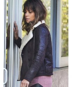 Extant Halle Berry Brown Shearling Jacket