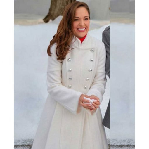 Laura Osnes One Royal Holiday Breasted Coat