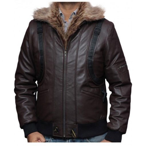 Spiderman Homecoming Vulture Brown Leather Jacket