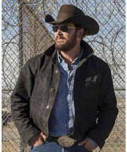 Yellowstone Cole Hauser Black Cotton Jacket