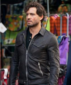 The 355 Luis Black Leather Jacket