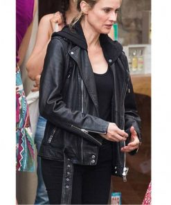 Jessica Chastain The 355 Biker Leather Jacket