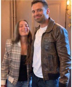 The 355 Sebastian Stan Brown Jacket