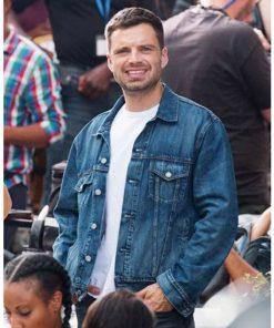 The 355 Sebastian Stan Blue Denim Jacket