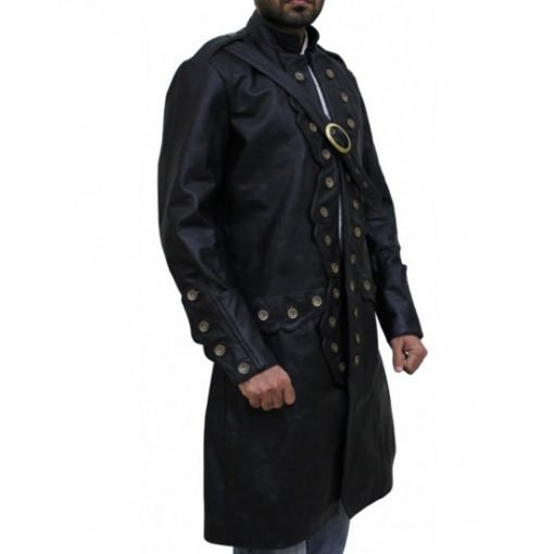 Will Turner Pirates of The Caribbean 5 Black Leather Coat